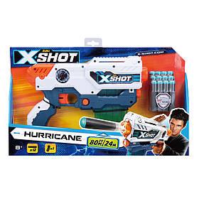 Бластер x-shot small hurricane (12 патронів) (3693)