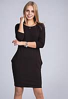 Стильное платье модного кроя из плотной ткани креп-дайвинг