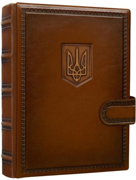 """Ежедневник А5 в кожаном переплете на магнитном клапане """"Суверен"""". Цвет коричневый"""