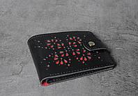 Чёрно-красный кошелек ручной работы, женский уникальный кошелек из натуральной качественной кожи, фото 1