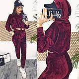 Велюровый костюм двойка топ и штаны, фото 3