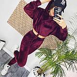 Велюровый костюм двойка топ и штаны, фото 2