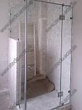 Душевая кабина стеклянная под заказ в Киеве из закаленного прозрачного стекла, фото 2