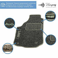 Комплект текстильных ковриков Stingray Ciak Black/Grey в салон автомобиля MITSUBISHI / PAJERO /  IV Wagon АКП 5 дв./ 2006-2012 (41213045)