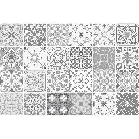 Наклейки на стену Gythio цементная плитка, серый, 10х10 см, 24 шт, винил