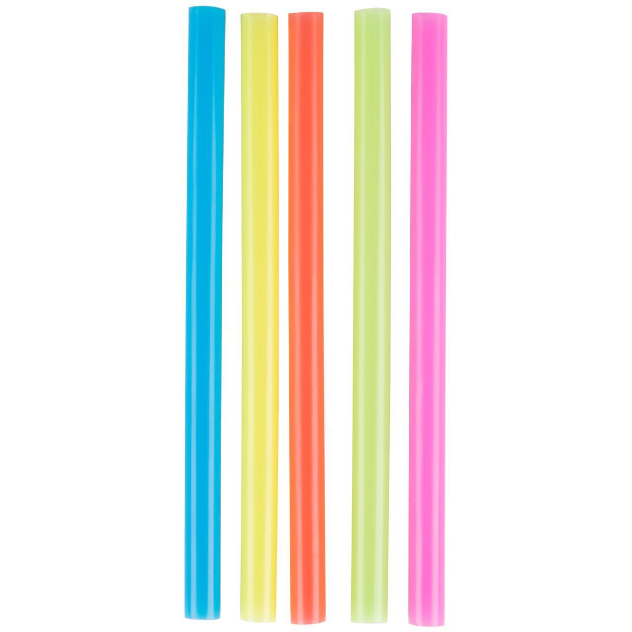 Соломка трубочка толстая цветная Фреш MAXI для коктейлей напитков 25 см d=7 мм 500 шт