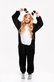 Пижама кигуруми детская р. 120 см черная панда