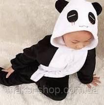 Пижама кигуруми детская р. 130 см черная панда
