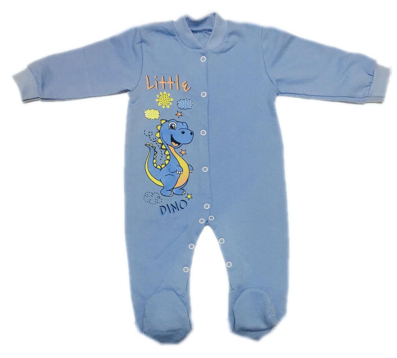 Теплый комбинезон человечек для новорожденных начес, 68см