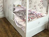Постель в детскую кровать с цифровой печатью, детское постельное сменное белье