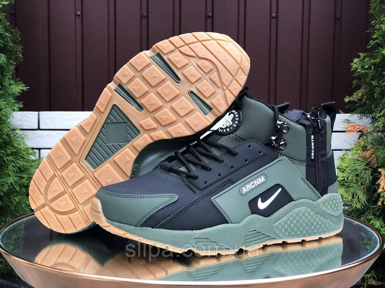 Мужские зимние кроссовки Nike Huarache Arconym ( нубук, мех )