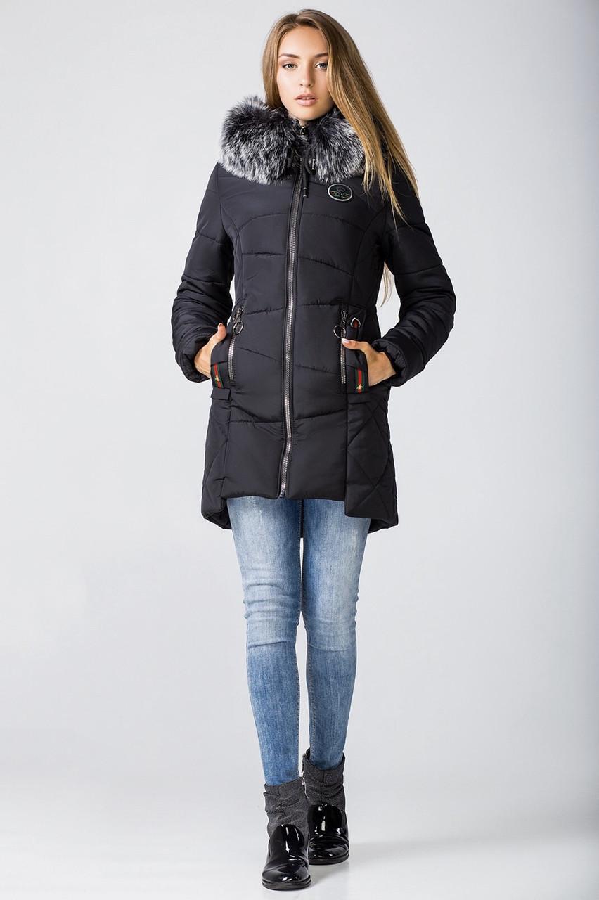 Зимние женские куртки молодежная 42-52 черный