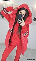 Стильный женский костюм тройка батал 8042.1 МП, фото 1