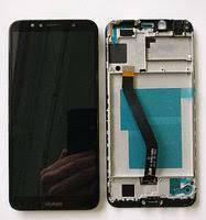 Дисплей для Huawei Y6 (2018) з чорним тачскріном і корпусних рамкою