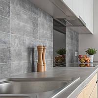 """Наклейки на стену """"Бетонная плитка"""", серый, 20х20 см, 9 шт, винил"""