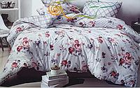 Комплект полуторного постельного белья бязь с розами светлое