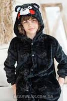 Костюм Кигуруми детский р.100 см. медведь черный