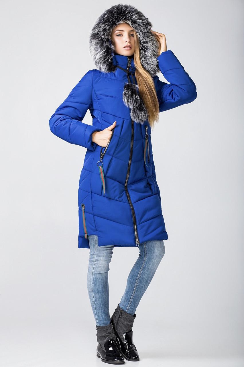 Жіноча зимова куртка парку молодіжна 42-50 електрик