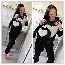 Флисовая теплая пижама на зиму мама и дочка, фото 3