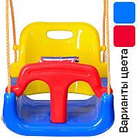Подвесные детские качели 4 в 1 с защитой и столиком для детей