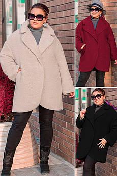 Теплое пальто на синтепоне Ланвин букле