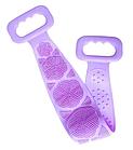 Мочалка силіконова масажна Silica Gel Bath Brush | Скрабер з ручками | Рушник силіконове | скрабер, фото 2