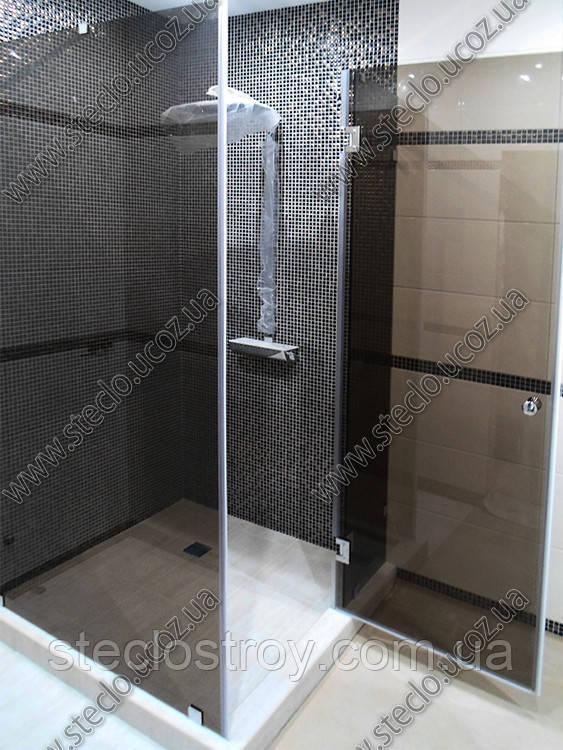 Душевые кабины стеклянные (душевые кабины из стекла тонированного в массе - коричневые, серые)
