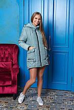 Теплая Зимняя куртка-парка  с ассиметричным низом. 46-56р