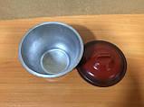 Порційний алюмінієвий чавунець 0,75 л із зовнішнім емалевим покриттям, фото 2