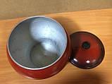 Чугунок печной 4,0л с наружным покрытием эмаль, фото 2