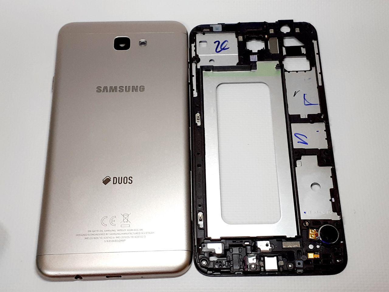 Корпус в сборе Gold Samsung Galaxy J7 Prime G611F оригинал ,сервисный