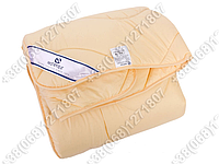 Одеяло 172х205 холлофайбер демисезонное Merkys микрофибра топленое молоко