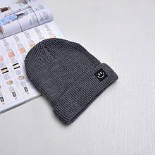Крута шапка зі смайликом модная вязаная шапка smile