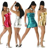Яркое платье мини. Винил, фото 1