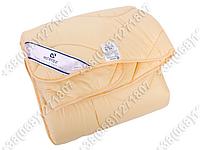 Одеяло 200х220 холлофайбер демисезонное Merkys микрофибра топленое молоко