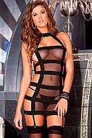 Откровенное платье сеточкой со вставками, фото 1