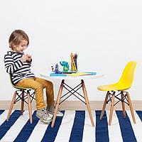 Стул пластиковый детский KIDS NIK на деревянных ножках