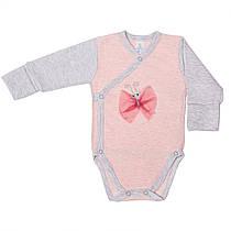 Боди с косой застежкой Baby Veres Bugs pink интерлок