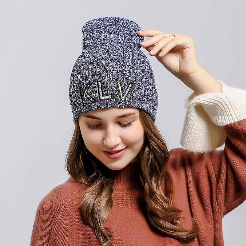 Крута шапка модная вязаная шапка бини