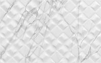 25х40 Керамічна плитка стіна Elba Ельба Рельєф білий сірий глянець, фото 1