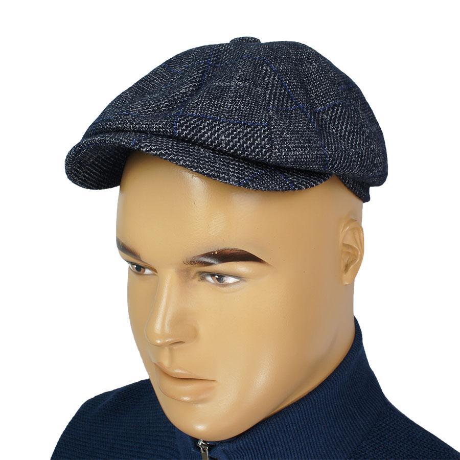 Стильный шерстяной мужской картуз Comfort Z-19/11 d.blue