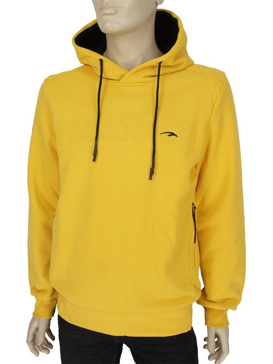 Стильная мужская толстовка Maraton W2019620 Yellow в желтом цвете