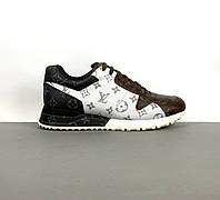Кожаные кроссовки Louis Vuitton RUN AWAY (Луи Виттон) арт. 39-161, фото 1