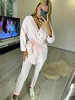 Стильный женский костюм с кардиганом оверсайз 42-46 р