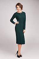 Отличное теплое платье вязанное с длинным рукавом  от производителя