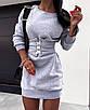 Женское зимнее платье из трехнитки с поясом-корсетом, фото 3