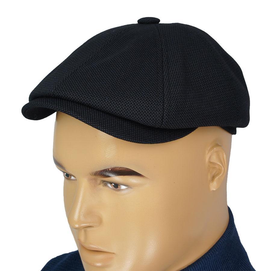 Шерстяной мужской картуз Comfort V-20/1 black-darkblue