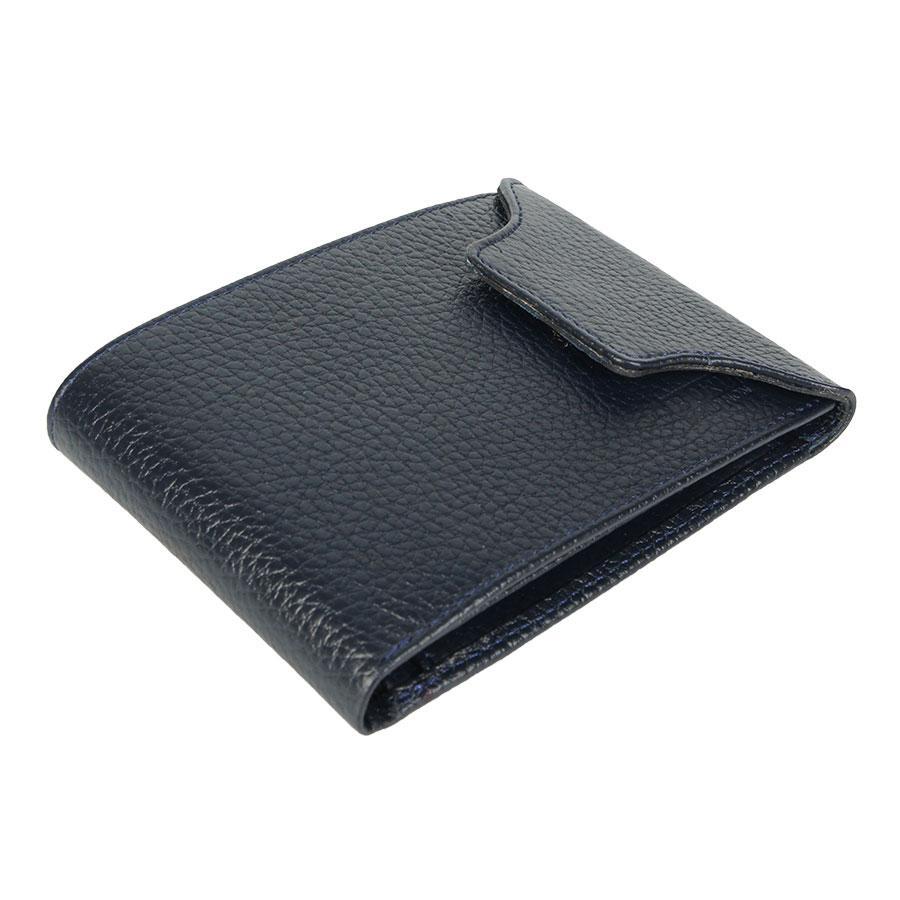 Мужской кожаный кошелек Bond 511-1170 d.blue темно-синего цвета