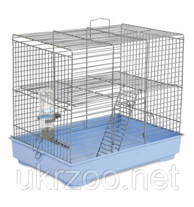 Клітка Природа Міккі з драбинкою для гризунів 37*25*30 хром/світло-блакитна арт.PR241514