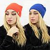 Женская теплая однотонная шапка из ангоры, фото 2
